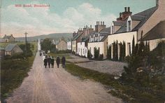 Undated, tinted postcard of Mill Road, Broadford.