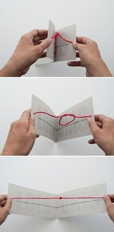 wedding invitation.. because they tied the knot.. get it :)