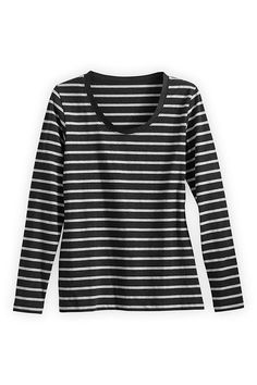 Fair Indigo Organic Fair Trade Long-sleeve Scoop Neck Tee * You can find out more details at the link of the image.