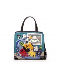 Cartoline Study Vacation Handbag - Braccialini