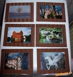 Rámečky na fotky z kartonu a vlnité lepenky