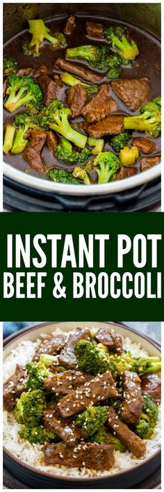 Instant Pot Beef and Broccoli is a flavorful Chinese meal made in minutes by pressure cooking. Instant Pot Beef and Broccoli is a flavorful Chinese meal made in minutes by pressure cooking. Instant Pot Pressure Cooker, Pressure Cooker Recipes, Pressure Cooking, Beef Recipes, Cooking Recipes, Healthy Recipes, Cooking Beef, Cooking Rice, Cooking Salmon