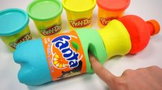 DIY How To Make Colors Play Doh Coca Cola Coke Kinetic Sand Ice Cream Surprise Eggs Toys