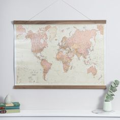 London art london canvas 16x20 london england decor london uk antique world map home wall hanging push pin map living gumiabroncs Image collections