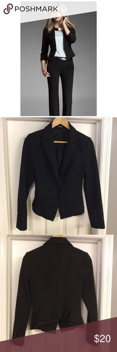 Express Black Peplum Blazer Very cute blazer! Good condition! Express Jackets & Coats Blazers