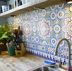 back tiles for kitchen (could also work behind sinks in a bathroom)