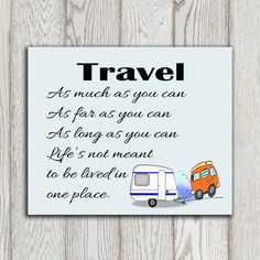 Travel quote print Travel as much as you can by DorindaArt on Etsy