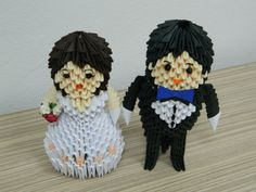 Etsy の 3D Origami Bride & Groom by SilvyOrigami