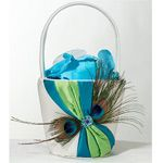 Peacock Flower Girl Basket Wish the green was purple