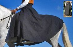 Winter Wool Riding Skirt, doubles as half-sheet Laser Equestrian Products