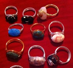 More wire wrapped rings