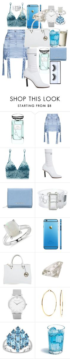 """""""midnight sun - Tinashe"""" by annabidel ❤ liked on Polyvore featuring By Terry, Topshop, Fleur du Mal, Vetements, MICHAEL Michael Kors, MM6 Maison Margiela, Blue Nile, Michael Kors, Jayson Home and Larsson & Jennings"""