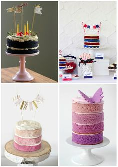 Naked cakes for Birthdays, holidays and special occasions, not just weddings.