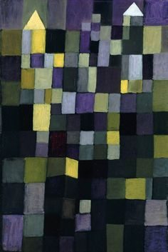 Paul Klee (1879-1940), Architektur (Architecture), 1923. Oil on cardboard. 58cm H x 39cm W. (Staatliche Museen zu Berlin, Nationalgalerie)