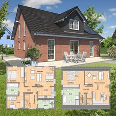 Ihr sucht ein #Massivhaus mit #Einliegerwohnung ? Wie wäre es mit unserem #Mitwachshaus 148? Mehr Varianten und Informationen: http://www.hausausstellung.de/mitwachshaus-flair-148-massivhaus.html