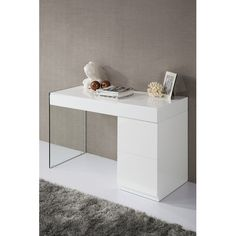Found it at Wayfair - Modrest Volare Modern Floating Glass Vanity with Mirror