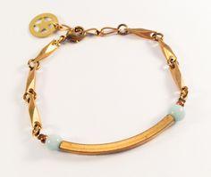 Laiton doré - Amazonite Diy Jewelry, Charlotte, Bracelets, Gold, Leather, Brass, Bracelet, Arm Bracelets, Bangle