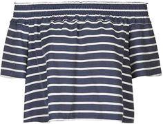 Stripe smock bardot blouse