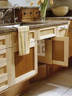 Lowered cabinet heights for easy wheelchair access