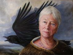 The Queen of Myself by ~jennymajeske on deviantART   (oil portrait)