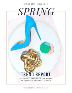"""""""Give it 15 minutes. If inspiration isn't coming to you, walk away. I have quite literally never lost my fount of inspiration since."""" We partnered with fashion blog TWOmuchSTYLE to bring the Spring fashion and nail trend forecast http://www.thenailscape.com/nail-fashion-trend-forecast/"""