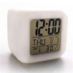 Kimura®  Creative LED Colorful Temperature Alarm Clock