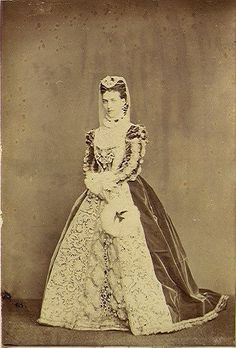 The Princess of Wales (later Queen Alexandra) dressed as Mary, Queen of Scots for the Waverley Ball on 6th July 1871.
