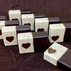 After all the business of the holidays, I wanted to take a simple approach to my soaps and yet still do a bit for Valentine's Day. So I went with some embed soaps, using four Heart tube molds and o… Soap Cake, Coffee Soap, Soap Making Supplies, Homemade Soap Recipes, Soap Packaging, Packaging Ideas, Soap Bubbles, Glycerin Soap, Cold Process Soap
