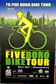 I think this year's 35th anniversary bike tour logo is very clever - TD Bank Five Boro Bike Tour