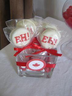 Canada Day Oreo Pops