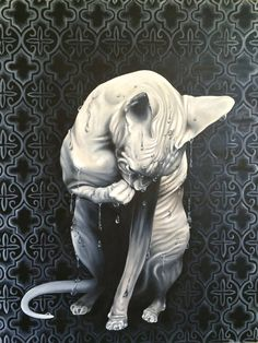 Dripping Sphynx - Stephanie LeVasseur; Painting
