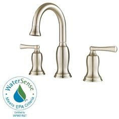 "Pfister F049LDKK Lindosa 2-Handle Widespread Bathroom Faucet, 8"", Brushed Nickel"