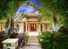 Front entry @ 28 Silky Oak Drive, Brookwater. For sale now @ Offers over $1,250,000.