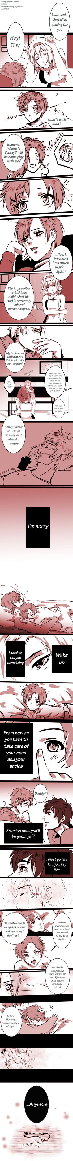 """Spamano/ Omfg ;__;<--- """"Realmente lo siento for leaving...Pero, when I come back some day, lets start again, okay?"""""""