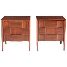 Pair of 'Checkerboard' Night Stands by Edmund Spence