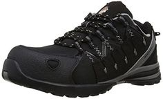 Dickies Men's Microfiber Tiber Safety Shoes 7 UK F Black Dickies Workwear, Camping And Hiking, Outdoor Outfit, Hiking Shoes, All Black Sneakers, Trainers, Safety, Size 10, Footwear