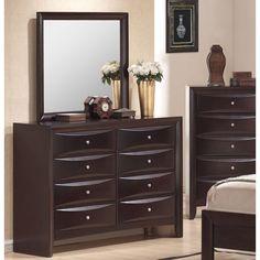 Have to have it. Emily 8 Drawer Dresser - Beautiful Merlot - $590 @hayneedle