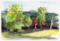Manor Heath Park Halifax UK - Watercolour postcard by Sophie Peanut Watercolor Postcard, Watercolor Video, Pen And Watercolor, Learn To Sketch, Landscape Sketch, Urban Sketching, Love Is Free, Art Sketchbook, Easy Drawings