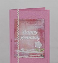 Card featuring Kaisercraft roses embossing folder www.craftqueen.com.au