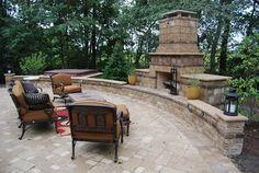 Dye - traditional - patio - indianapolis - Michael K Akin, Falling Water Creations