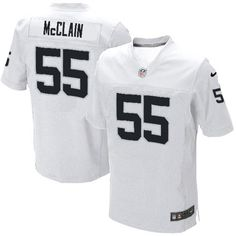 Order a new Elite Men's Nike Oakland Raiders #55 Rolando McClain White NFL Jersey this season. We are the #1 source for Elite Men's Nike Oakland Raiders #55 Rolando McClain White NFL Jersey Size: S M L XXL XXXL 46 48 50 52 54 56 58, where 3-Day shipping on any size order is free shipping.$129.99