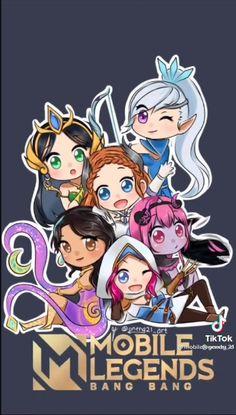 Moba Legends, Mobile Legend Wallpaper, Melanie Martinez, Chibi, Best Friends, Bang Bang, Lol, Fan Art, Anime