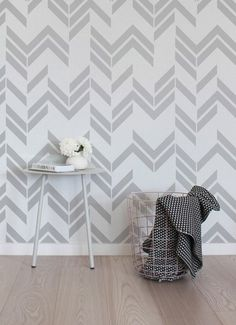 Office...Self adhesive vinyl wallpaper wall decal Herringbone by Betapet