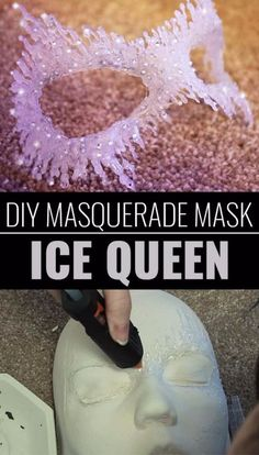 DIY Projects for Teenagers - DIY Masquerade Mask Ice Queen - Cool Teen Crafts Ideas for Bedroom Decor, Gifts, Clothes and Fun Room Organization. Summer and Awesome School Stuff diyjoy.com/...
