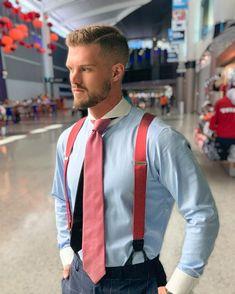 Suspenders Outfit, Braces Suspenders, Suit Up, Suit And Tie, Moustache, Mens Braces, Classic Suit, Contrast Collar, Well Dressed Men