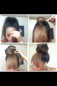 Great alternative for women of color with long hair but don't want to apply weaves and harsh products for this desired look.