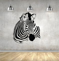 Zebra Wall decal Zebra Stripe Decal Zebra Decor by SignJunkies Zebra Decor, Zebra Art, 3d Art Painting, Black And White Art Drawing, Exotic Art, Stencil Art, Zebras, Paint Designs, Vinyl Wall Decals