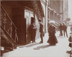 1904. 44th St. No. Side Looking E. from Broadway. Criterion Theatre Stage Door. (Theatre 1514 Broadway. Hudson Theatre 139 West 44). MCNY Collections Portal - Museum of the City of New York