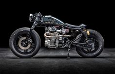 Honda CX500 by Roast Moto left side view studio still