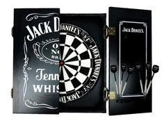 Jack Daniels dartboard cabinet set and darts man cave pool room Licensed gift Man Cave Desk, Man Cave Shed, Man Cave Home Bar, Man Cave Garage, Jack Daniels Decor, Jack Daniels Whiskey, Jack Daniels Dartboard, Whiskey Room, Whiskey Girl